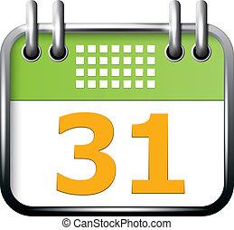 app, ícone, calendário