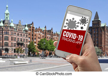 app, コロナ, smartphone, 追跡, ウイルス, covid-19