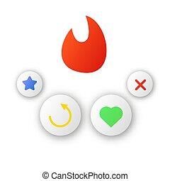 app, デートする, アイコン