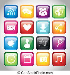app, botões