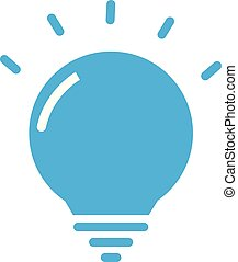 app, branché, ton, bleu, symbole., toile, lightbulb, signe., icône, ampoule, lumière, symbole, plat, logo, ui., site, blanc, conception, style, créatif, arrière-plan.