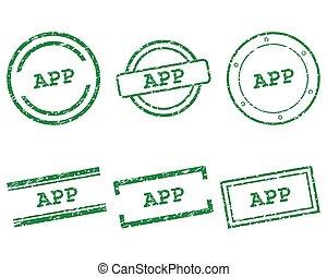 app, briefmarken