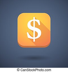 App button with a dollar sign