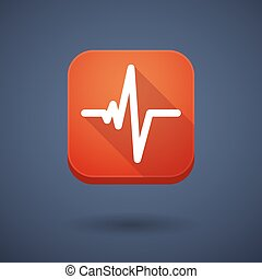 App button with a heart beat sign