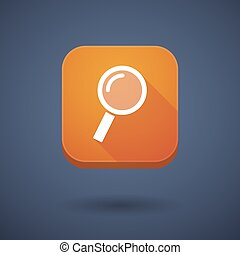 App button with a magnifier