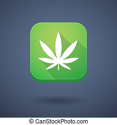 App button with a marijuana leaf