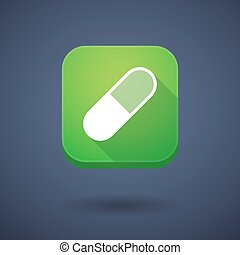 App button with a pill