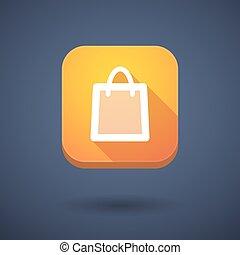 App button with a shopping bag