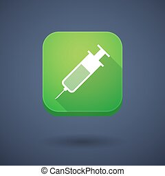 App button with a syringe