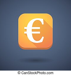 App button with an euro sign