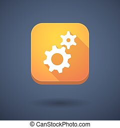 App button with two gears