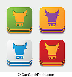 app concept: cow, agriculture