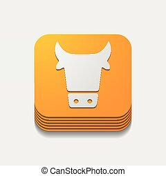 app, concept:, vaca, agricultura