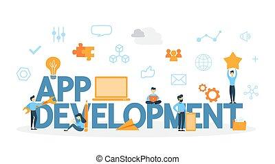 App development concept.