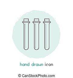 app, element., propre, fond, tube, mobile, isolé, vecteur, ligne, essai, toile, icône, logo, design., ton, illustration