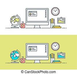 app, espace de travail, révélateur