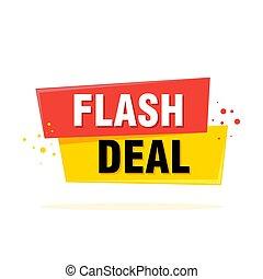 app, flash, vente, illustration, étiquette, vecteur, conception, icône, bannière, gabarit