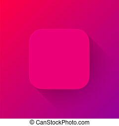 app, gabarit, vide, magenta, technologie, icône