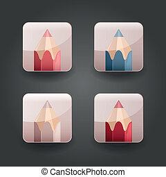 app, heiligenbilder, bleistift