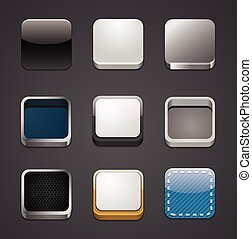 app, icône, arrière-plans, ensemble
