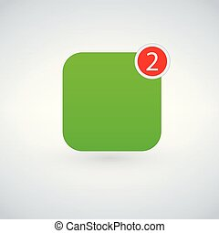 App Icon Template . Vector Green Color