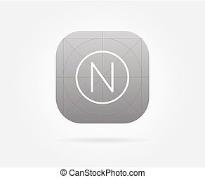 App Icon Template With Guidelines Vector Fresh Colour