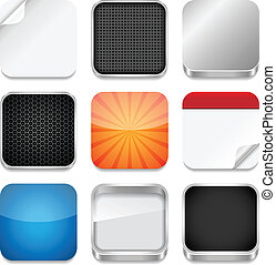 Vector backgrounds for app icons. Eps10 file with transparency.