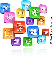App icons 3d Composition