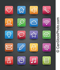 App icons - Vector app icons web set eps 10