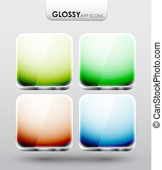 App icons - Vector templates of glossy app icons