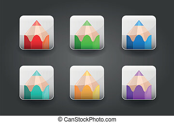 App icons pencil