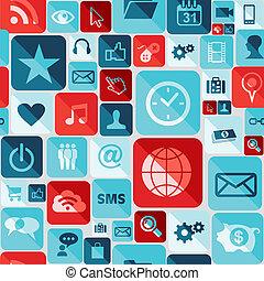 App icons seamless pattern