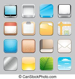 App Icons Templates 2 - A collection of 16 app icons...