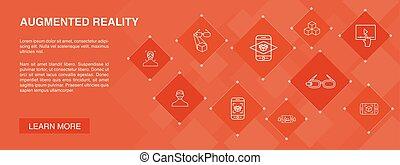 app, ikonok, egyszerű, realitás, augmented, játék,...
