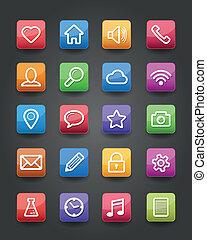 app, ikonok