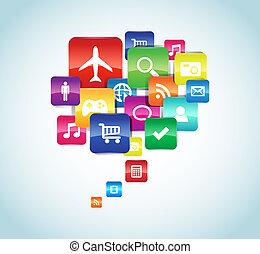 App - This image represents a cloud app illustration. / App