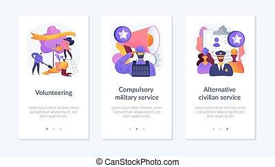 app, interface, burger, template., verplichtingen