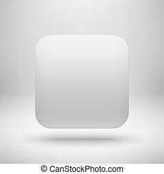 app, modelo, em branco, branca, tecnologia, ícone