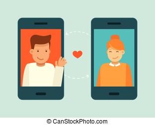 app, pojęcie, datując, online