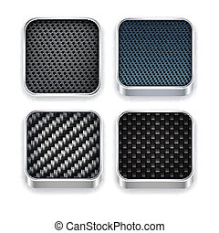 app, quadrado, modernos, modelo, icons.