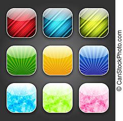 app, sfondi, astratto, icone