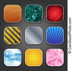 app, sfondi, struttura, icone