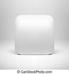 app, skabelon, blank, hvid, teknologi, ikon