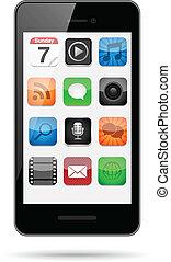 app, smartphone, icônes