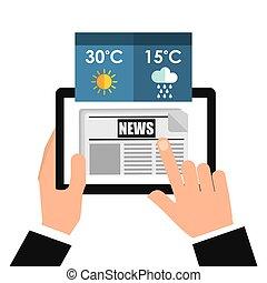 app, tempo, tecnologia, ícone