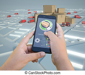App tracking parcel on the move