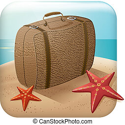App Travel Icon With Suitcase