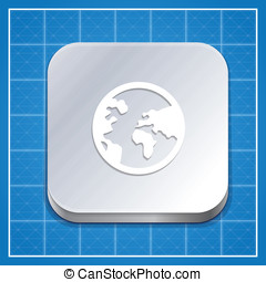 app, vetorial, modelo, ícone