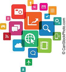 app, wolke, technologie