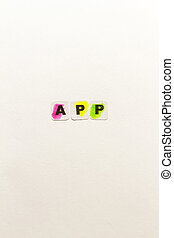 App word written in black letters